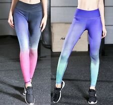 Yoga Pants Sports Leggings Running Tights High Waist Stretch Fitness Trousers