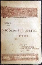 Georges-Louis Leclerc de Buffon, Discours sur le style, Ed. Henri Gautier, 1891