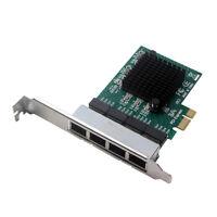 PCIE X1 4 Port 10/100/1000M Gigabit Ethernet Network Card Adapter