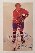 HENRI RICHARD MONTREAL CANADIENS #16 SIGNED AUTOGRAPHED LARGE CARD