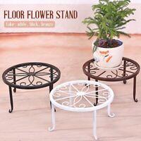 1x Metal Outdoor Indoor Pot Plant Stand Garden Decor Flower Rack Wrought Iron K