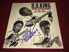 BB KING SIGNED VINYL LP NOW APPEARING AT OLE MISS