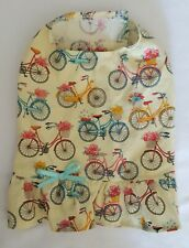 Bicycles with Flowers Ruffled Shirt Dog Puppy Pet Apparel Clothes XXXS & XXS