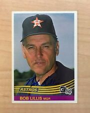BOB LILLIS HOUSTON ASTROS SIGNED AUTOGRAPHED 1984 DONRUSS CARD #84 W/COA
