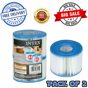 Intex Hot Tub Pure Spa JA29001 Filter Cartridge Replacement Pack of 2 White NEW