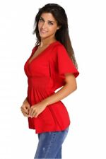 Shirt Tops Summer Blouse T Sleeve Casual Short Tee Womens New Sexy Small