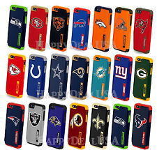 Official NFL Dual Layer Shock Proof Hybrid Cover Case for Apple iPhone 5 5S SE
