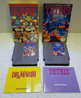 DR MARIO AND TETRIS IN BOXES W/ MANUALS TESTED WORK GREAT LOOK !!! NES NINTENDO