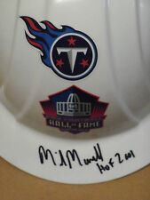 Mike Munchak, Pgh Steelers, Signed Hall of Fame, Hard Hat, Titans Logo, Clean