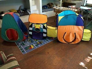 LARGE Playhut VINTAGE Toy Fort Play House Twist N Fold Tent Indoor Out Hideaway