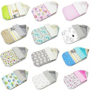 Baby Hooded SLEEPING BAG for Stroller *Footmuff *COSYTOES*Double-sided COTTON* M