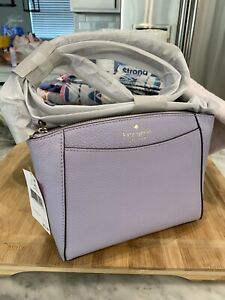 KATE SPADE Monica Pebbled Leather Crossbody Bag In Frozen Lilac $279 💜
