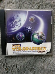 Corel Web Graphics Suite PC CD create HTML website pages, animated images NEW