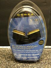 New Dynex 6' IEEE 1284 Parallel Printer Cable DB25 Male Gold ..