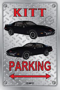 Parking Sign Metal - Checkerplate Look - TRANS AM KITT