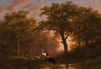 "oil painting handpainted on canvas""Landscape with Cattle and Drover"" NO9620"