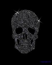 Strass Hot Fix Bügelbild Totenkopf,Skull Crystal