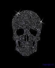 Strass Hot Fix Bügelbild Totenkopf,Skull 23 x 16 cm