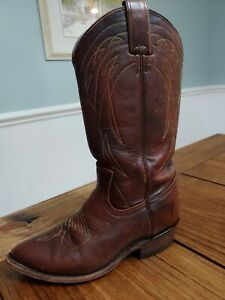FRYE Women's Cowboy Boots Dark Brown Leather Billy Pull On 77689 Size 7