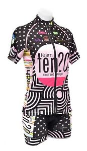 SheBeest Petunia Mafia Team Short Slv Cycling Kit Women MED LRG Polka Dot Bike