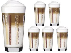 6 Kaffeegläser 370ml Latte Macchiato Gläser Teeggläser Kaffeebecher Sestrier