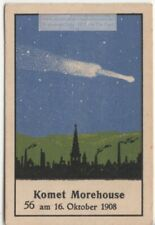 1908 Comet Morehouse Bright Non-Periodic Comet Astronomy 1930s Ad Card