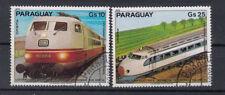 Paraguay Briefmarken 1979 Elektrische Eisenbahnen Flugpost Mi 3256+57 gestempelt