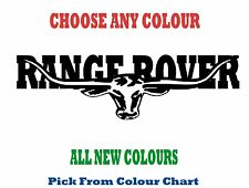 RANGE ROVER 1200mm LONGHORN DECAL *CHOICE OF COLOURS* RM Williams STICKER TOYOTA