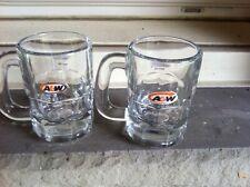 A&W ROOT BEER 4 OZ. MINI MUGS (2)
