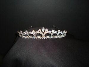 DAVID'S BRIDAL WEDDING TIARA HEADPIECE HEADBAND VERY BEAUTIFUL WAS $149