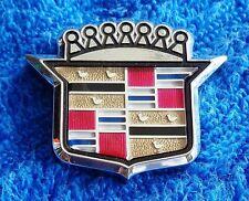 Original OEM Original NEW NOS 70s-90s Cadillac CHROME Crest Ornament Emblem