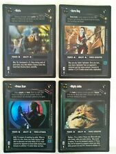 Star Wars ccg 4 M/NM Reflections III foil card - Prince Xizor, Watto, Aurra Sing