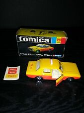 TOMY TOMICA 28 TOYOTA NEW CROWN TAXI 1/65 diecast decals box Japan car Vintage