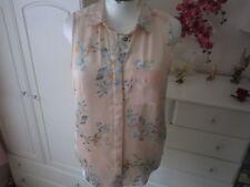 H&M Peach sheer blouse size 12