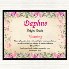 Daphne Name Meaning Dinner Table Placemat Floral
