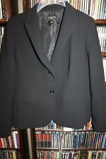 Talbots black 2 button Blazer Jacket 8P 8 P  (b165)