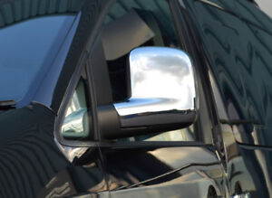 Chrome Wing Mirror Trim Covers Set To Fit RHD Volkswagen T5 Transporter (03-09)