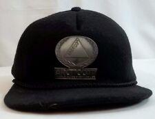Arctic Cat Snowmobiles Cap Hat Wool Metal Logo Black Snapback Vintage