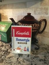 VINTAGE Authentic Campbells Soup Tin Advertising Thermometer ORIGINAL BOX