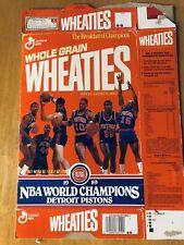 General Mills Wheaties Box (Empty) - Detroit Pistons 1989 NBA World Champions
