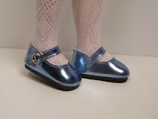 "Debs LT BLUE Metallic Doll Shoes For 14/"" American Girl Wellie Wisher Wishers"