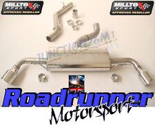 AUDI TT MK2 3.2 V6 Milltek Gato de escape de vuelta no res Dual 100MM Jet SSXAU258
