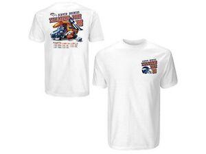 Denver Broncos NFL 2008 Tailgating Tour t-shirt NWT Reebok Medium  AFC Football