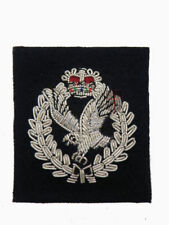 Official Army Air Corp Officers Cap Badge (hand Wire Embroided