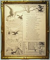 Benjamin Rabier 1906 2 Illustrations Fable Of the Fountain Raven Eagle Astrolog