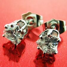 STUD EARRINGS DIAMOND SIMULATED REAL 18K WHITE GOLD G/F LADIES DESIGN FS3AN48