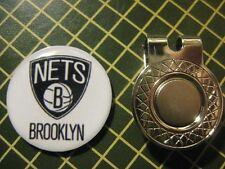 GOLF / Brooklyn Nets Logo Golf Ball Marker/with Magnet Hat Clip New!!