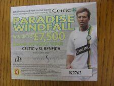 17/10/2006 Ticket: Celtic v Benfica [Champions League] Celtic Development Pools