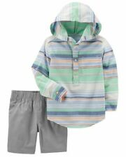 Carter's Toddler Boys 2-piece Striped Pullover & Canvas Short Set Size 2t