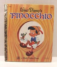 Vintage 1974 Little Golden Book : Walt Disney's Pinocchio